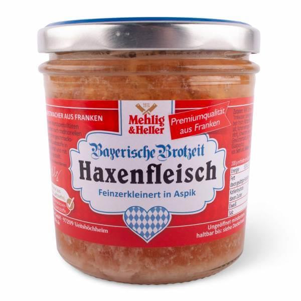 Bayerisches Haxenfleisch im Glasl