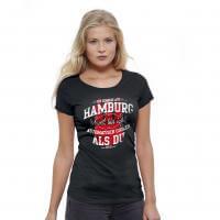 Damen-Shirt 'Ich komme aus Hamburg' - XXL