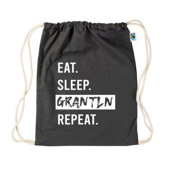"Turnbeutel ""Eat. Sleep. Grantln. Repeat."""