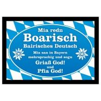 Fußmatte 'Mir redn Boarisch'