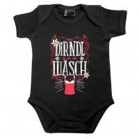 Baby Body 'Mei Dirndl is in da Wäsch' schwarz - Größe: 74 (12 - 18 Monate)