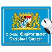 Mousepad '0,0456 Quadratmeter Freistaat Bayern'