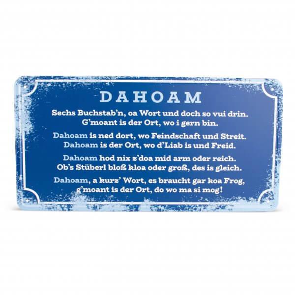 """Blechschild """"Dahoam"""""""