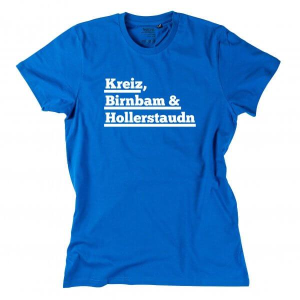 "Herren-Shirt ""Kreiz, Birnbam & Hollastaudn!"""
