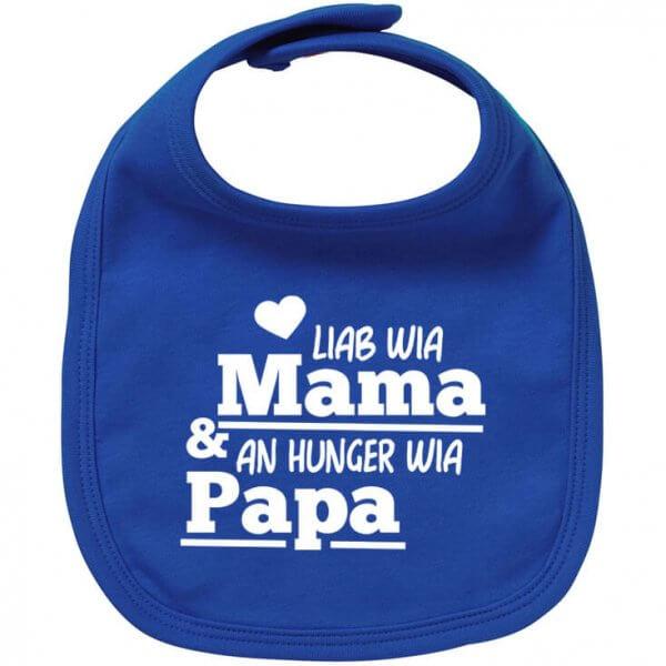 """Babylätzchen """"An Hunger wia Papa"""""""