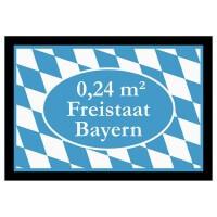 Fußmatte '0,24 qm Freistaat Bayern'