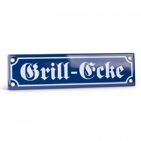 Emaille-Schild 'Grill-Ecke'