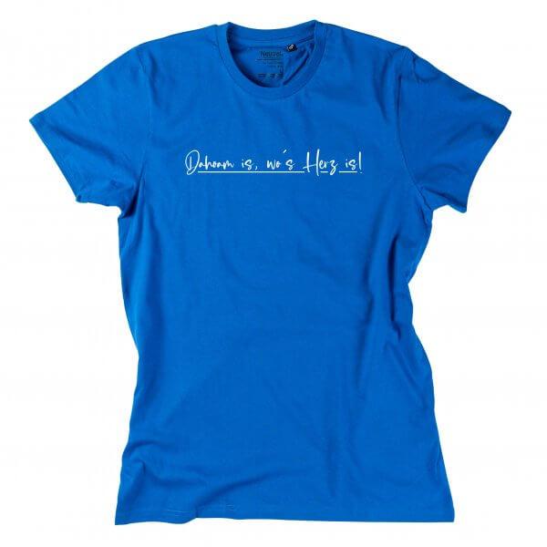 """Herren-Shirt """"Dahoam is, wo's Herz is!"""""""