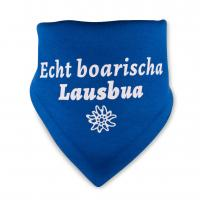 "Baby-Halstuch ""Echt boarischa Lausbua"" blau"