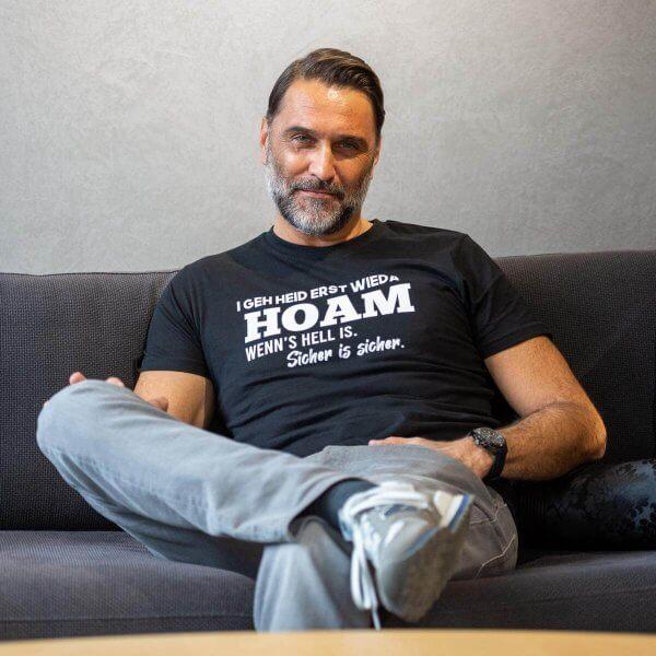 """Herren-Shirt """"Erst wieda HOAM"""""""