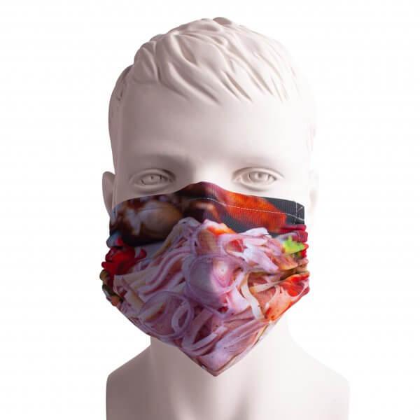 """Bayrische Mund-Nasen-Maske """"Wurstsalat"""""""