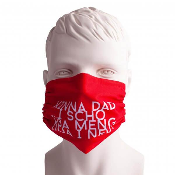 """Bayrische Mund-Nasen-Maske """"Kinna dad i scho"""""""