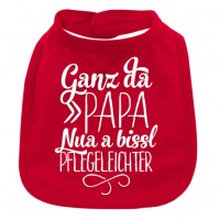 Babylätzchen 'Ganz da Papa' rot
