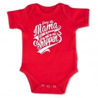 "Baby Body ""Ganz die Mama"" rot"