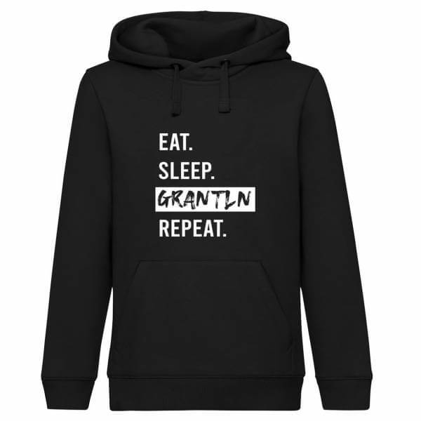 "Hoodie ""Eat. Sleep. Grantln. Repeat."""
