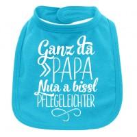 Babylätzchen 'Ganz da Papa' türkis