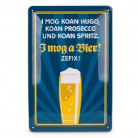 Blechschild 'I mog a Bier!'