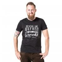 Herren-Shirt 'Bevor i mi aufreg ...' - Größe XXXL