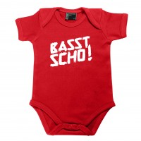 Baby Body 'Basst scho!' rot - Größe: 74 (12 - 18 Monate)