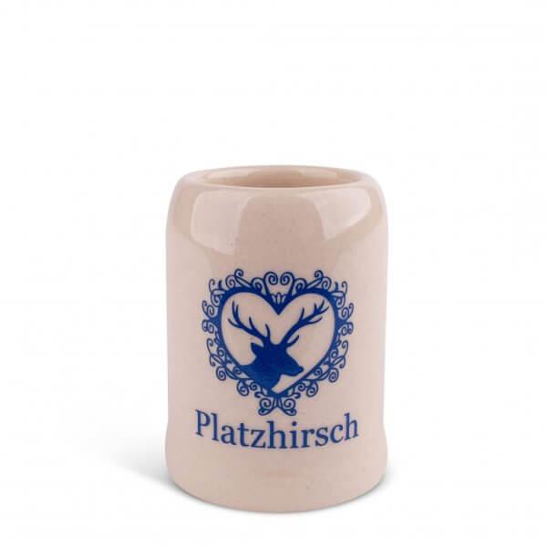 "Schnapskrügerl ""Platzhirsch"""