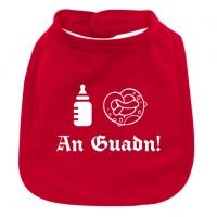 Babylätzchen 'An Guadn' rot