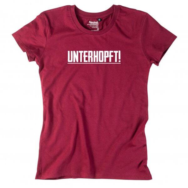 """Damen-Shirt """"Unterhopft"""""""