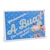 "Glückwunschkarte ""A Bua"""