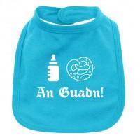 Babylätzchen 'An Guadn' türkis