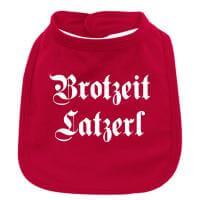 """Babylätzchen """"Brotzeit Latzerl"""" rot"""