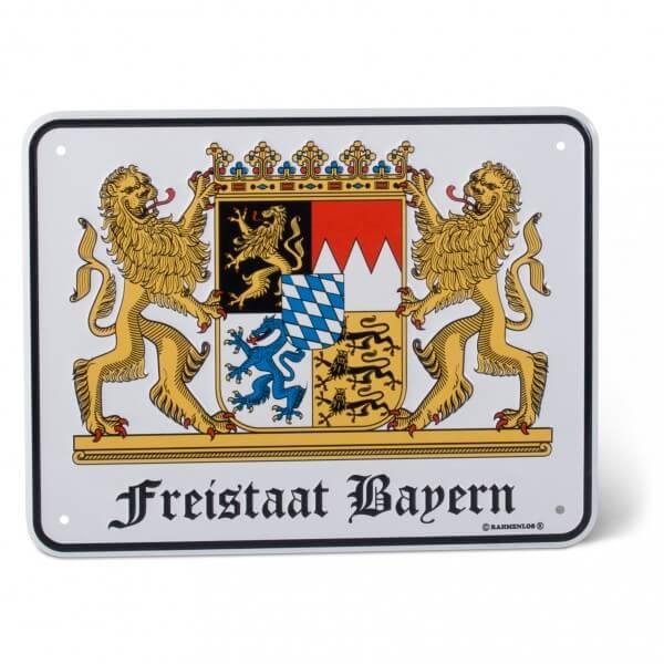 Blechschild 'Freistaat Bayern'