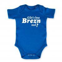 "Baby Body ""Gibt's koa Brezn ned?"" blau"