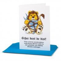 Geburtskarte 'Schee dast do bist!'