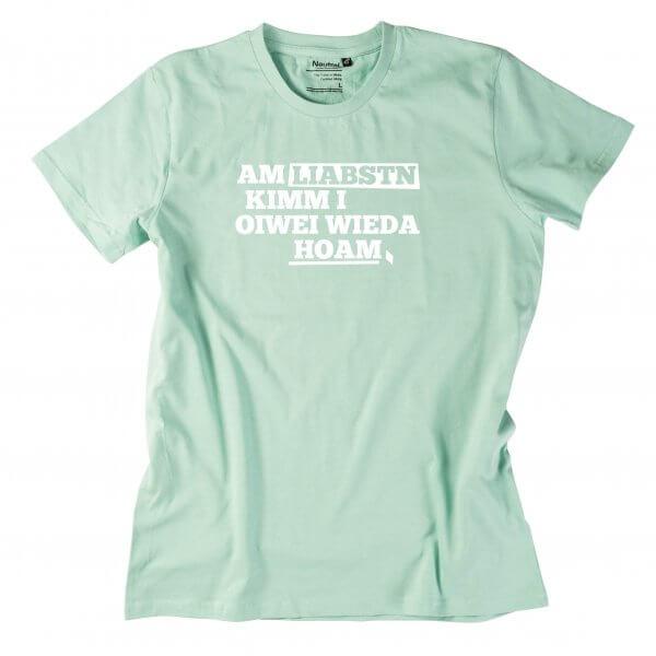 """Herren-Shirt """"Am liabstn"""""""
